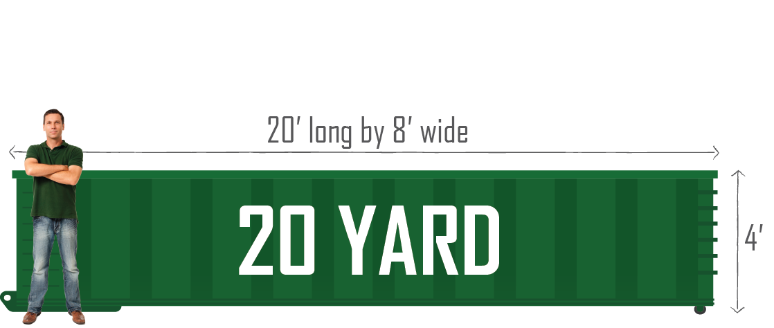 20 Yard Green Bay Dumpster