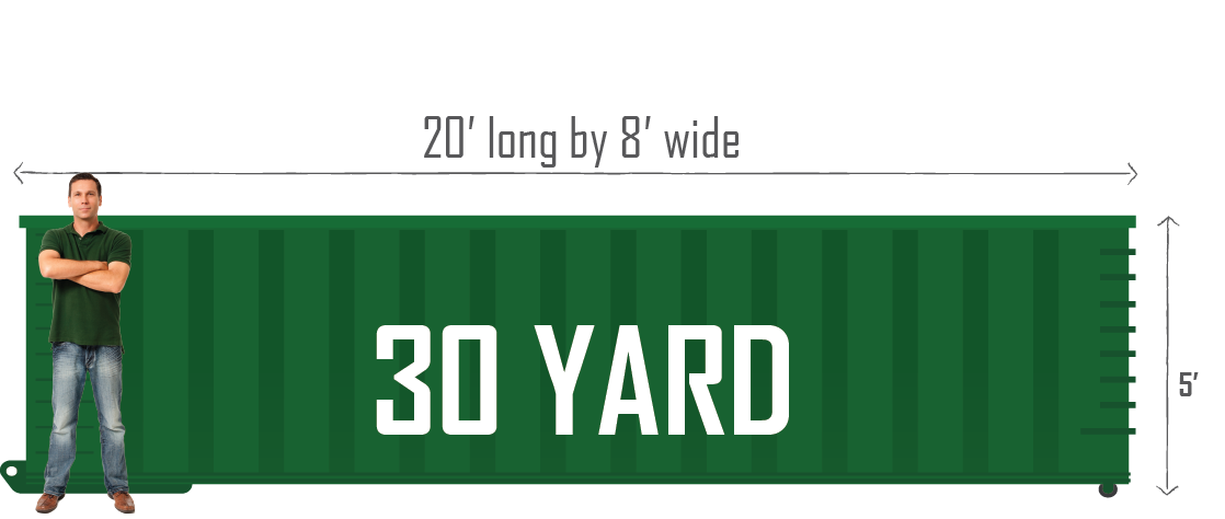 30 Yard Green Bay Dumpster